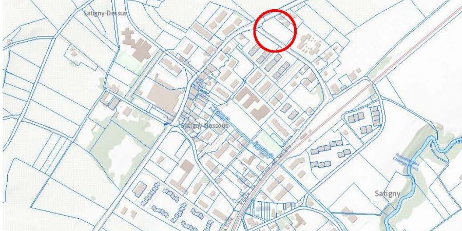 Plan de localisation du projet Champ-Magnin à Satigny