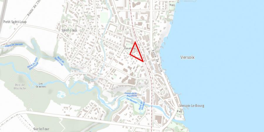 Versoix, plan de situation du projet Lachenal-Dégallier