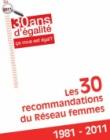 30 recommandations du Réseau femmes 2011