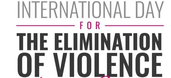 écriteau journée internationale pour l'élimination des violences à l'égard de femmes 25 novembre