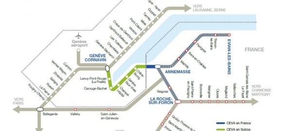 Le réseau ferroviaire avec CEVA en 2019