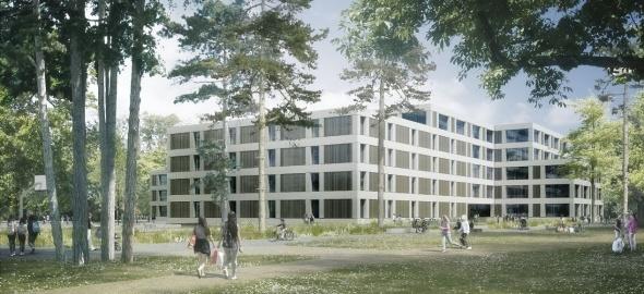 Le nouveau Cycle d'orientation de Vernier-Balexert remplacera celui du Renard (CLR architectes)