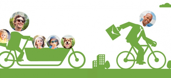 Cyclistes sur la voie verte