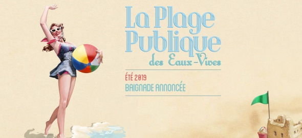 Illustration La plage publique des Eaux-Vives