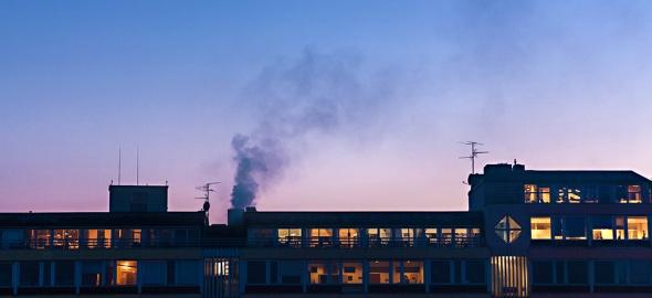 Le toit d'un immeuble