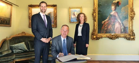 Visite de coutoisie de S.E. Monsieur l'Ambassadeur Christopher GRIMA, Représentant permanent de la République de Malte auprès de