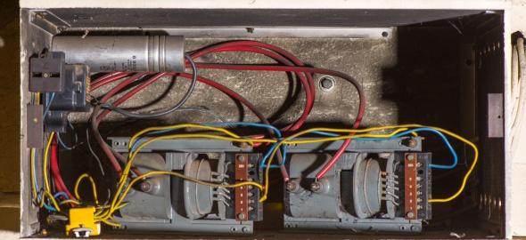 Condensateur d'installation contenant des PCB