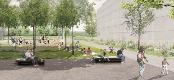 Projet urbain PLQ Grouet © Fischer & Schär