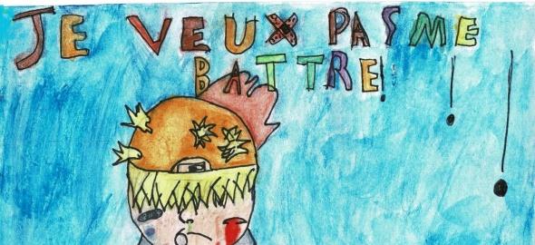 dessin d'Anas, 7P, école De Haller