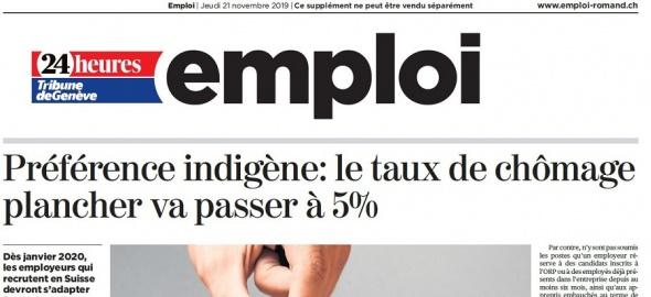 Préférence indigène : le taux de chômage plancher va passer à 5%