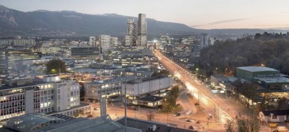 Perspective sur le quartier de l'Etoile (image C. Dupraz)
