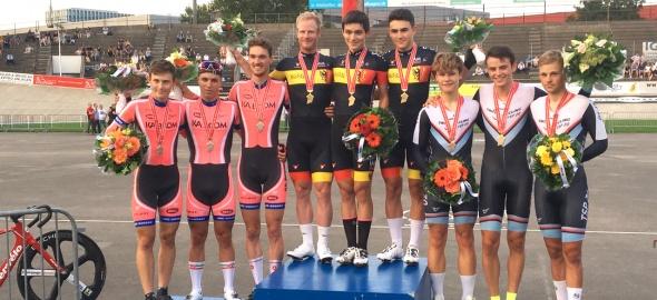 TSP Cadre Cycliste Genève agagné les championnats Suisse deTeamSprint