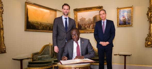Visite de courtoisie de S.E. Monsieur l'Ambassadeur Ahmad MAKAILA, Représentant permanent de la République du Tchad auprès de l'