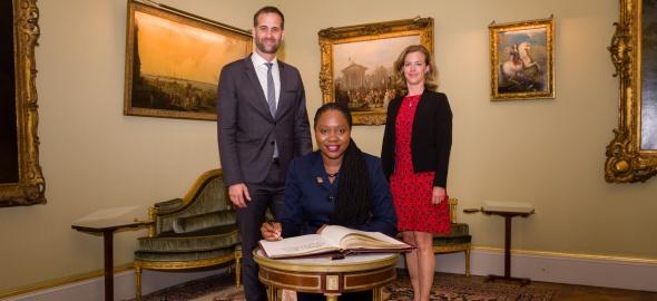 Visite de courtoisie de S.E. Madame l'Ambassadeur Makeda ANTOINE-CAMBRIDGE, représentant permanent de la République de Trinité-e