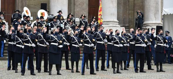 Quarante-sept aspirant-e-s et quatre policiers ont prêté serment devant la Cathédrale