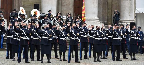 Prestation de serment de l'école de police, promotion d'avril 2019