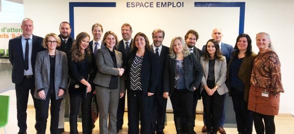 La Ministre italienne du travail en visite à l'OCE