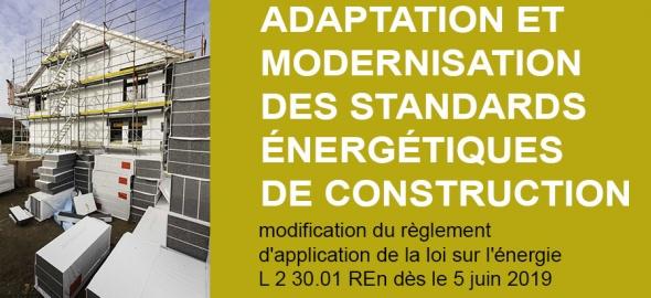 Adaptation et modernisation des standards énergétiques de construction : nouveau délai