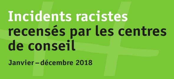 Incidents racistes recensés par les centres de conseil