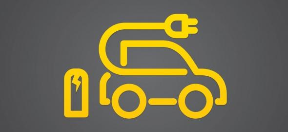 Une voiture électrique et sa borne
