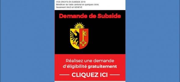 Publicité Swiss Conseil sur un réseau social