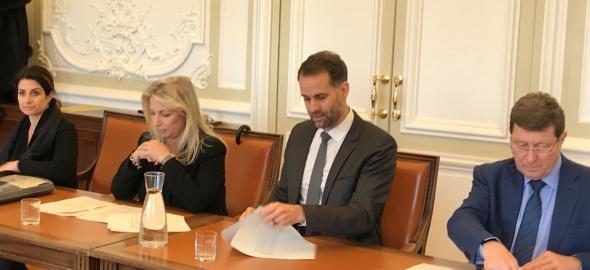 M. Righetti, N. Fontanet, A. Hodgers et M. Poggia. Photo Etat de Genève