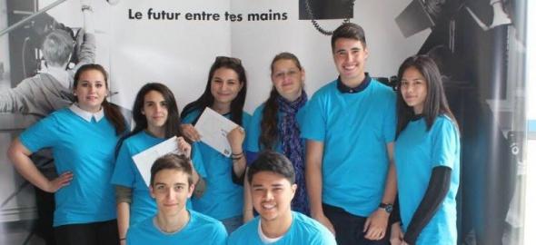 Jeunes stagiaires de l'espace entreprise