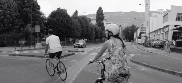 Visite à vélo du PAV