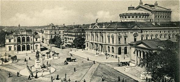 La Place de Neuve en 1909
