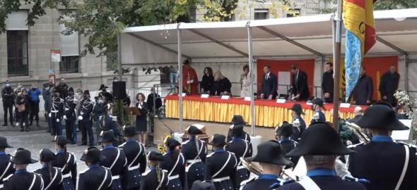 Prestation de serrment de l'école de police, promotion d'avril 2019.