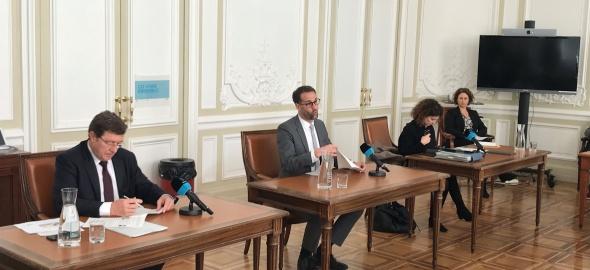 M. Poggia, A. Hodgers, M. Righetti, A. Tardin. Photo Etat de Genève