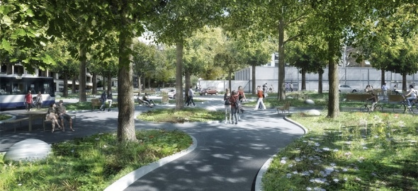 Réaménagement des espaces publics © archigraphie, Philippe Cointault