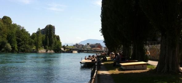 Baignade du Rhône