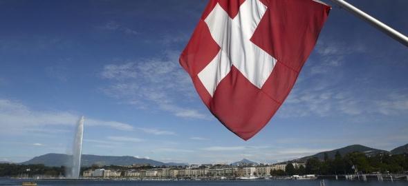 Drapeau de la Suisse à Genève