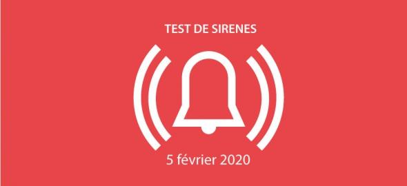 Essai des sirènes d'alarme à la population mercredi 5 février 2020