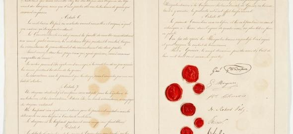 Sixième et septième pages de la Convention de Genève du 22 août 1864