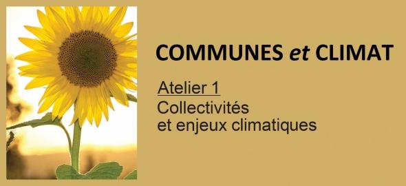 Atelier Collectivités et enjeux climatiques