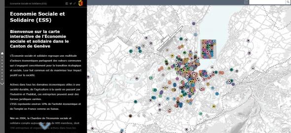 Première cartographie interactive de l'économie sociale et solidaire à Genève