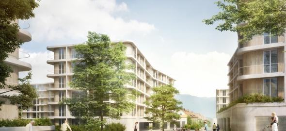 Vue du mail du quartier de Saint-Mathieu (c) Opalys Project