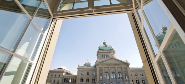 Palais fédéral vu d'une fenêtre