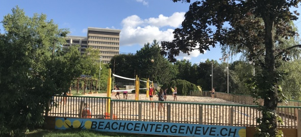 Parc des Franchises, terrain de beach volley