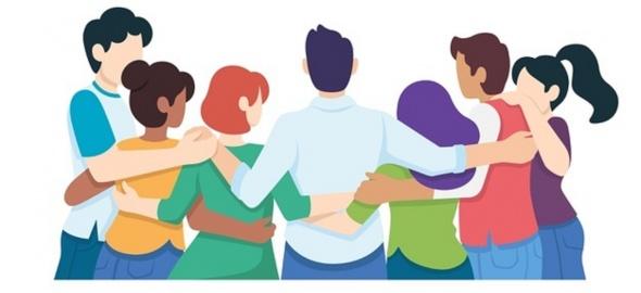 illustration groupe de jeunes