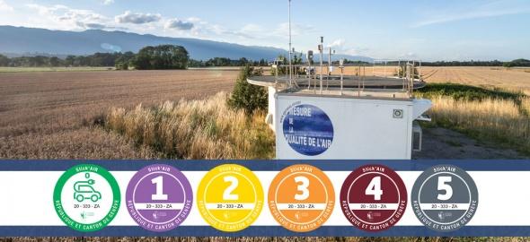 Station du Réseau d'observation de la pollution atmosphérique à Genève (ROPAG) Passeiry