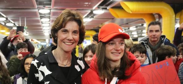 La conseillère d'Etat et la championne Sarah Höfflin