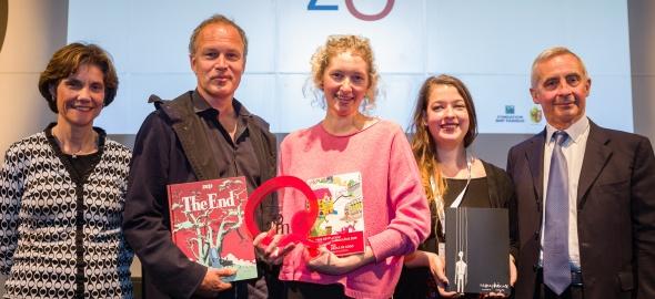 lauréats et officiels du prix BD Zoom 2019