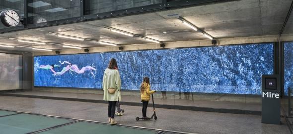 L'oeuvre de Cecilia Bengolea est visible à la gare Genève-Champel