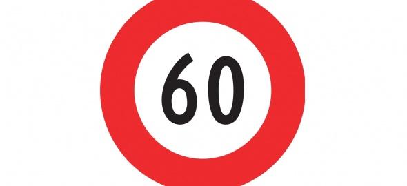 Signalétique 60 km/h