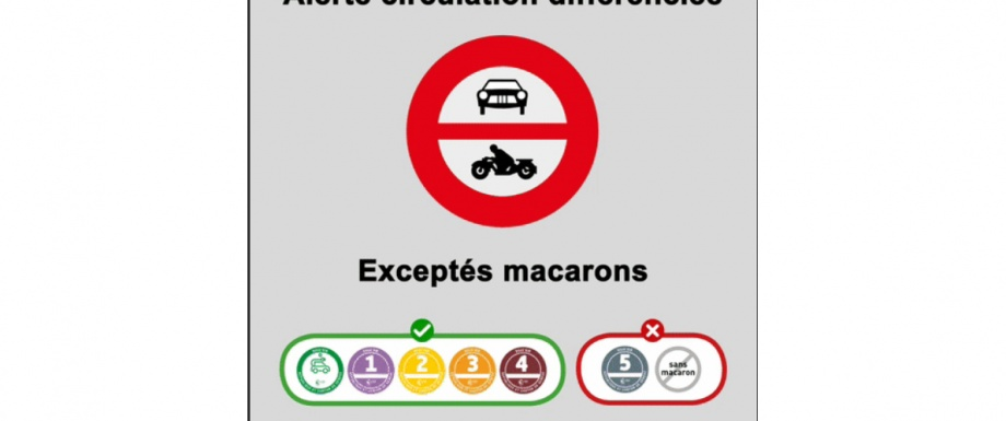 Alerte circulation différenciée 23 janvier