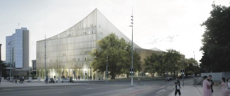 Image de synthèse du bâtiment projeté
