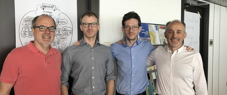 Robert Leckenby (2e depuis la gauche) avec des membres du Genève Lab